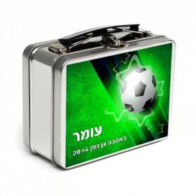 מזוודת מתכת קטנה – כדורגל (שם)