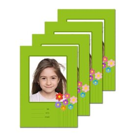 4 מחברות עם תמונה אישית – פרחים