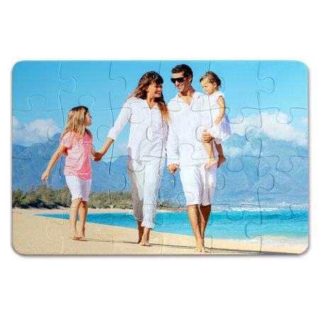 פאזל פלסטיק איכותי עם תמונה משפחתית