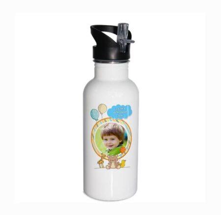 בקבוק נירוסטה עם תמונת הילד במבצע – בקבוקים ממותגים - עיצוב דובי