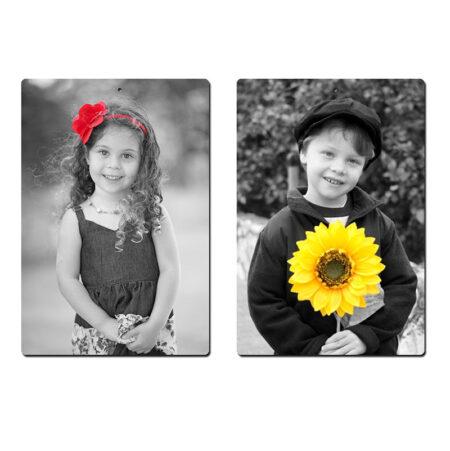 צילום ילדים בגן מתנות ליום המשפחה תמונה שחור לבן עם פריט צבעוני