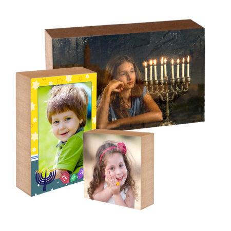 מתנות לחנוכה - בלוק עץ