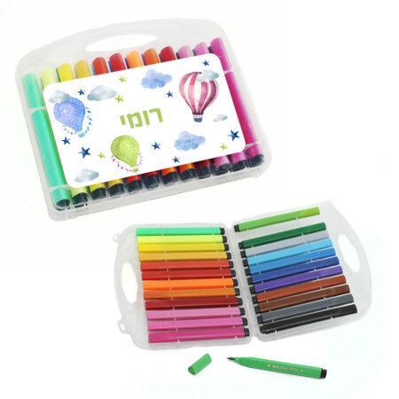 סט טושים 24 צבעים לילדים עם מיתוג אישי